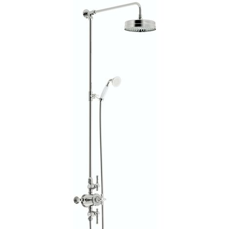 The Bath Co. Camberley rain can thermostatic exposed mixer shower