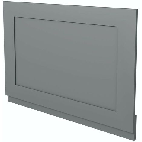 The Bath Co. Camberley satin grey wooden straight bath end panel 700mm