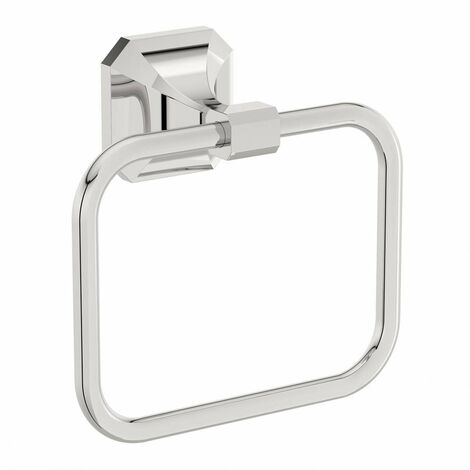 The Bath Co. Camberley square towel ring