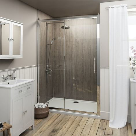The Bath Co. Camberley traditional 8mm sliding shower door 1000mm