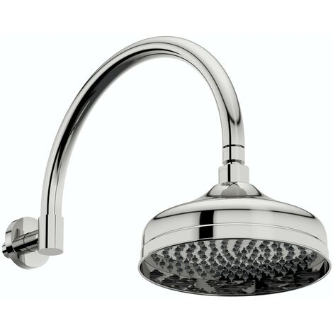 The Bath Co. Camberley traditional shower head with traditional wall arm