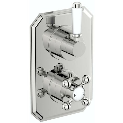 The Bath Co. Camberley twin thermostatic shower valve with diverter