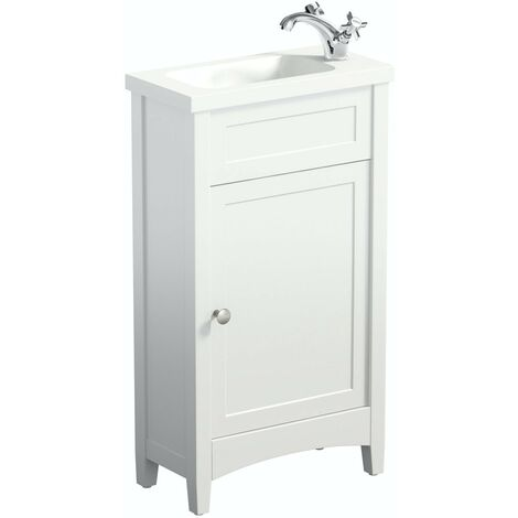 The Bath Co. Camberley white cloakroom floorstanding vanity and basin 460mm