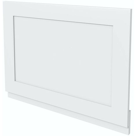 The Bath Co. Camberley white wooden straight bath end panel 700mm