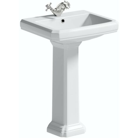 The Bath Co. Dulwich 1 tap hole full pedestal basin 571mm