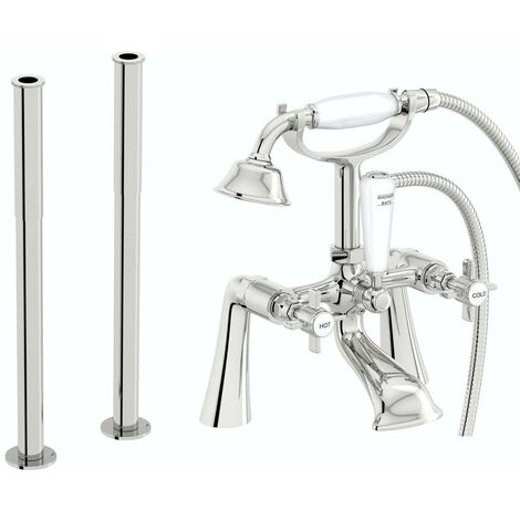 The Bath Co. Dulwich bath shower mixer and fixed standpipe pack