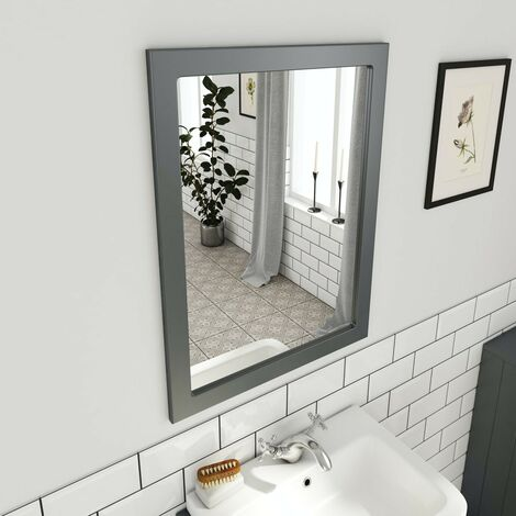 The Bath Co. Dulwich stone grey bathroom mirror 800 x 600mm