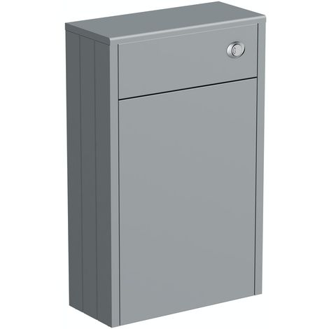 The Bath Co. Dulwich stone grey slimline back to wall toilet unit 500mm