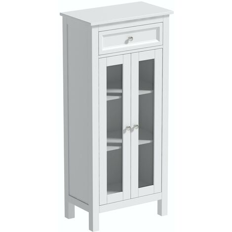 The Bath Co. Marlow tall storage cabinet