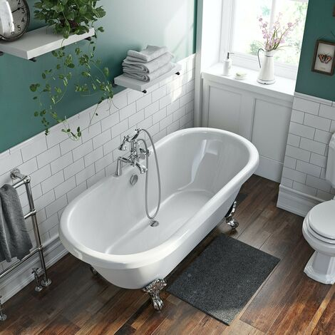 The Bath Co. Traditional Double ended roll top bath 1750 x 800