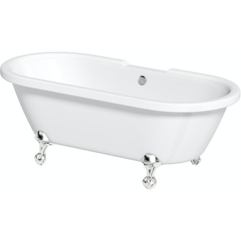 The Bath Co. Traditional double ended roll top bath with ball and claw feet 1700 x 750