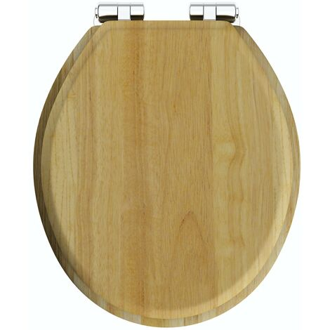 The Bath Co. traditional solid oak soft close top fixing wooden toilet seat