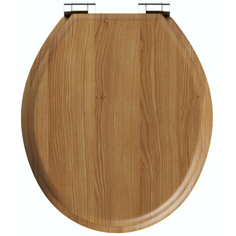The Bath Co. traditional solid wood oak top fixing soft close toilet seat
