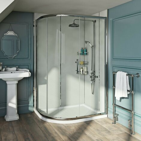 The Bath Co. Winchester 6mm traditional offset quadrant shower enclosure 900 x 760