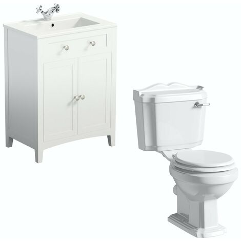 The Bath Co. Winchester and Camberley white vanity suite 600mm