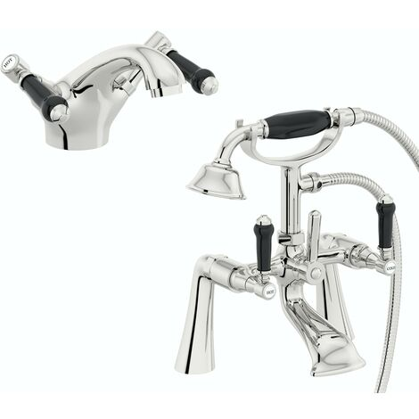 the Bath Co. Winchester basin mixer and bath shower mixer tap pack