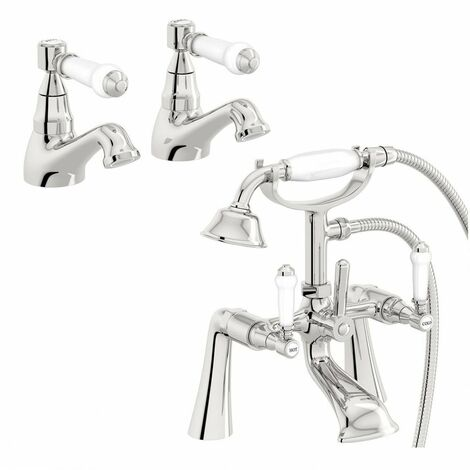The Bath Co. Winchester basin tap and bath shower mixer tap pack