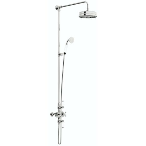 The Bath Co. Winchester rain can dual valve riser shower system