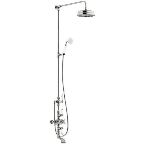 The Bath Co. Winchester rain can dual valve shower bath system