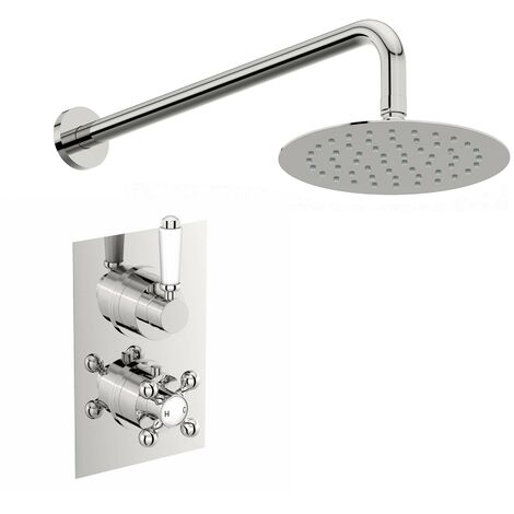 The Bath Co. Winchester thermostatic shower valve set 200mm shower head