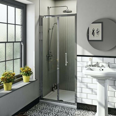 The Bath Co. Winchester traditional 6mm bifold shower door 700mm