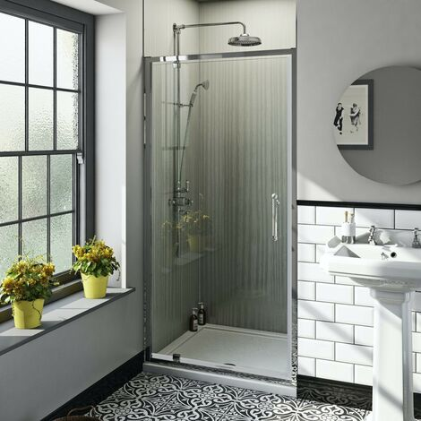 The Bath Co. Winchester traditional 6mm pivot shower door 900mm