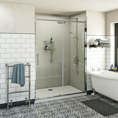 The Bath Co. Winchester traditional 6mm sliding shower door 1100mm