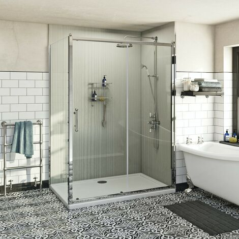 The Bath Co. Winchester traditional 6mm sliding shower enclosure 1000 x 800