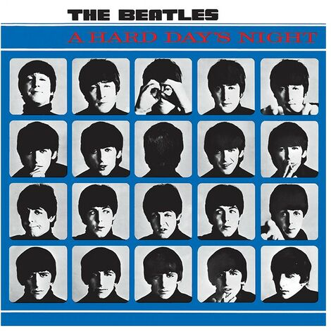 The Beatles A Hard Days Night Canvas Print (One Size) (Black/White/Blue)