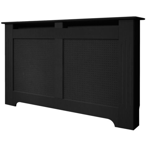 The Burford Radiator Cover in Black, 1600mm