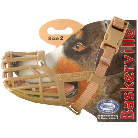 The Company Of Animals Baskerville Dog Muzzle (Size 4) (Brown)