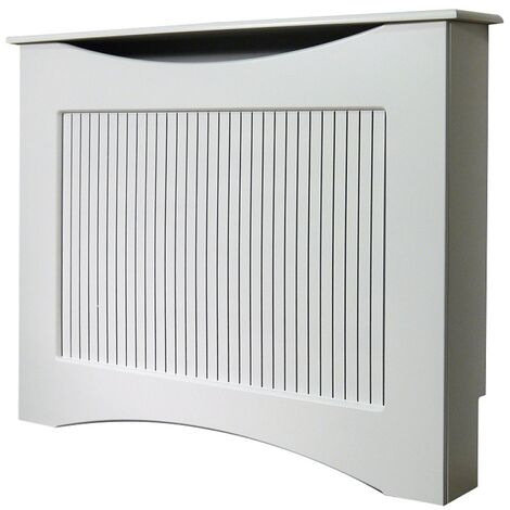 The Fairlight Radiator Cover in White, 1200mm