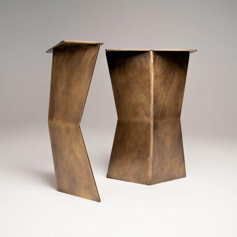The Gatekeeper Leg Butterfly Style Steel Table Legs Antique Brass