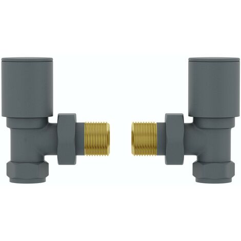The Heating Co. angled anthracite grey radiator valves
