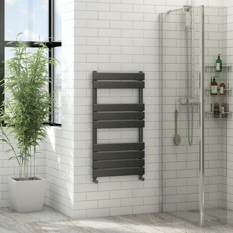 The Heating Co. Bali anthracite grey heated towel rail 750 x 500
