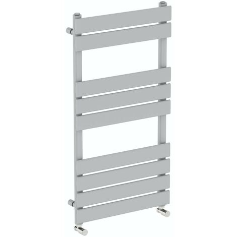 The Heating Co. Bali stone grey heated towel rail 750 x 500