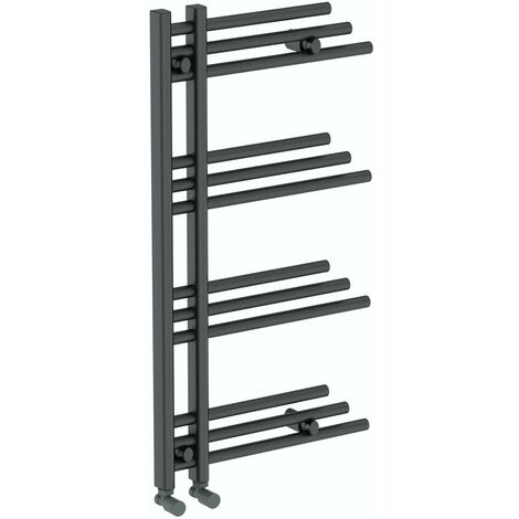 The Heating Co. Campinas anthracite grey heated towel rail 950 x 500