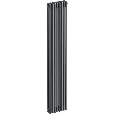 The Heating Co. Corso anthracite grey tall 3 column radiator 1800 x 370