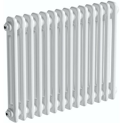The Heating Co. Corso white 2 column radiator 600 x 654