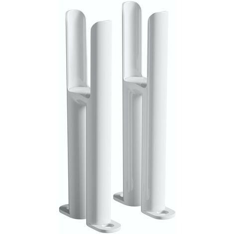 The Heating Co. Corso white 2 column radiator feet