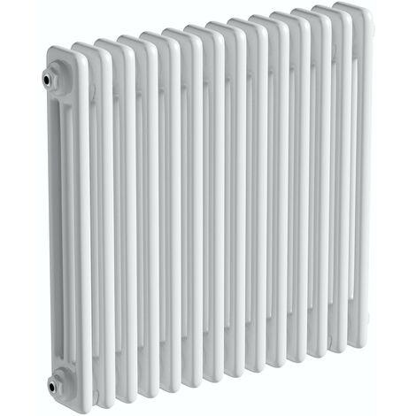 The Heating Co. Corso white 3 column radiator 600 x 834