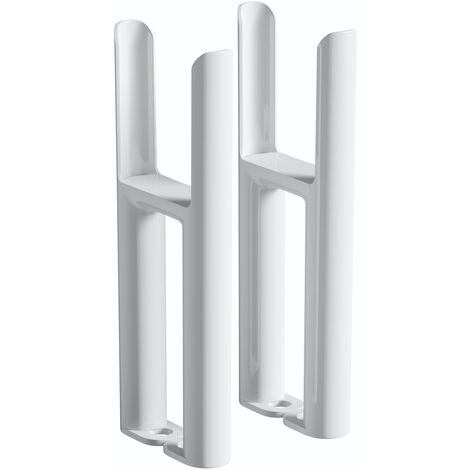 The Heating Co. Corso white 3 column radiator feet