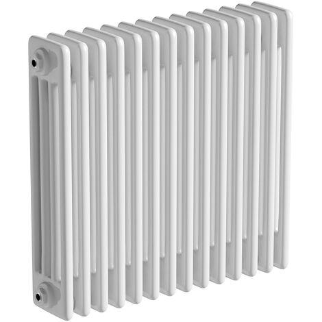 The Heating Co. Corso white 4 column radiator 600 x 834