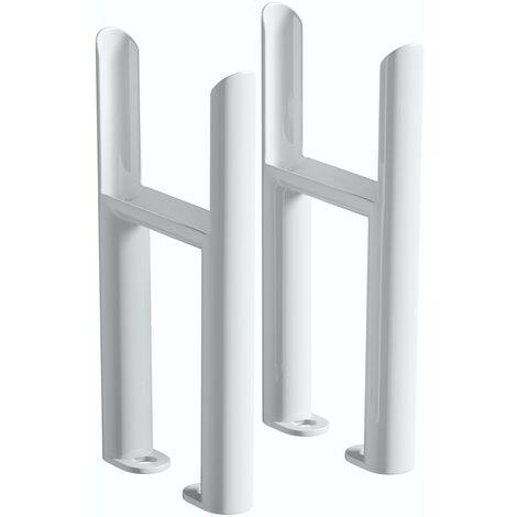 The Heating Co. Corso white 4 column radiator feet