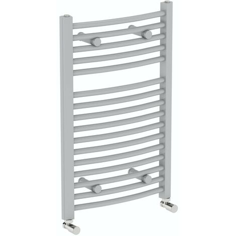 The Heating Co. Nassau stone grey heated towel rail 750 x 450