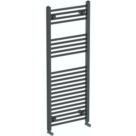 The Heating Co. Phoenix anthracite grey heated towel rail 1200 x 490