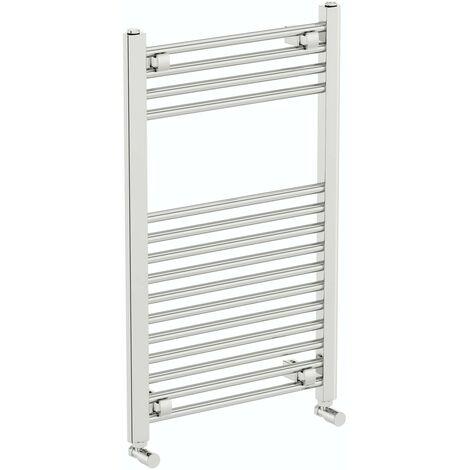 The Heating Co. Phoenix chrome heated towel rail 800 x 300
