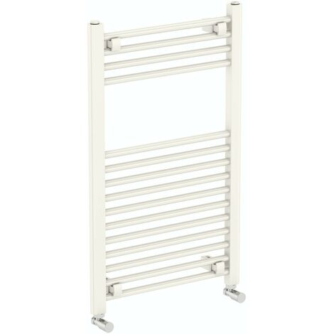 The Heating Co. Phoenix round white heated towel rail 1200 x 490