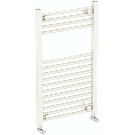 The Heating Co. Phoenix white heated towel rail 800 x 300