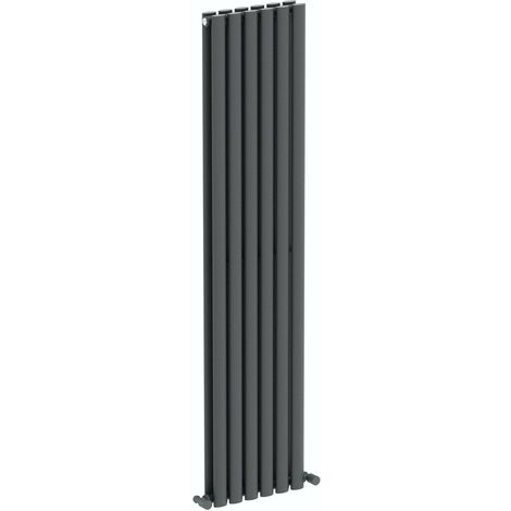 The Heating Co. Salvador anthracite grey double vertical radiator 1600 x 360